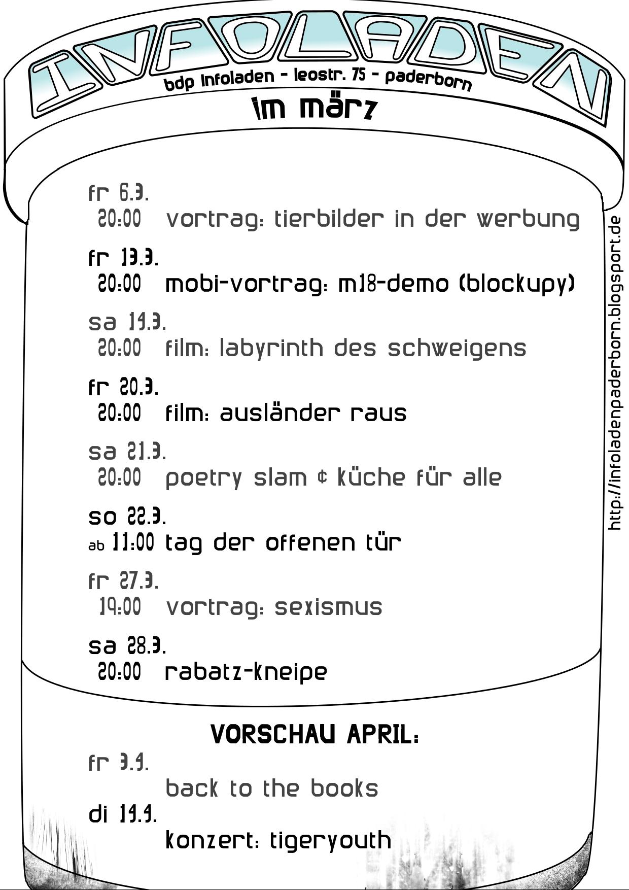 Programm für den März