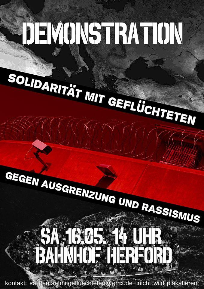 """Demonstration """"Solidarität mit Geflüchteten – Gegen Ausgrenzung und Rassismus!"""""""