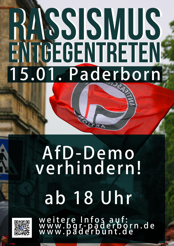 #pb1501 Rassismus entgegentreten! AfD-Demo in Paderborn verhindern!