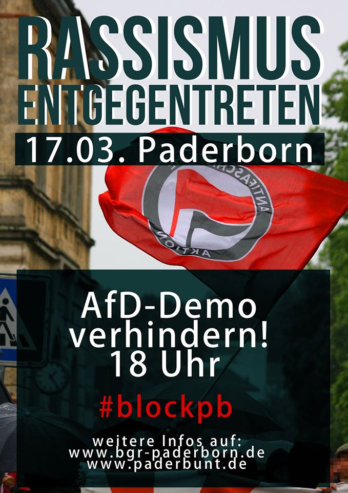 AfD-Demo am 17. März in Paderborn!